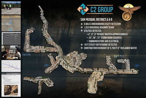 C2 Group, program management, San Pasqual, utility detection, UAV, drone, mapping, surveying, aerial photogrammetry, georeference, parcel drone images
