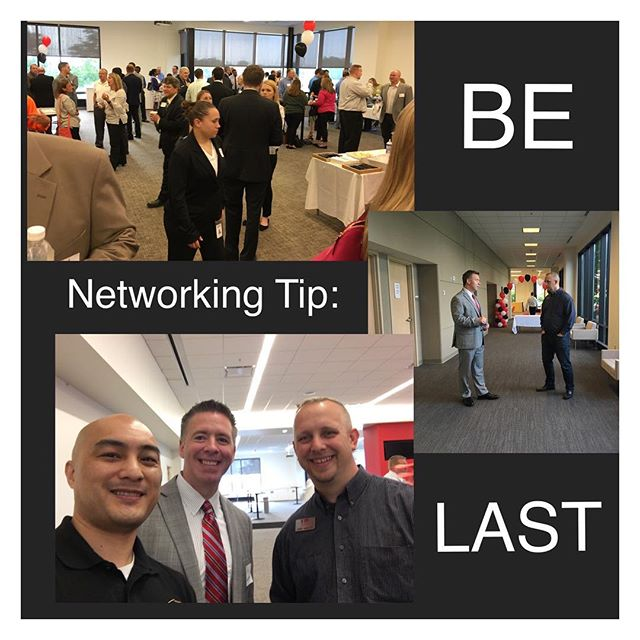 Networking Tip_ BE LAST! While most people take off as soon as possible, the best connections and re