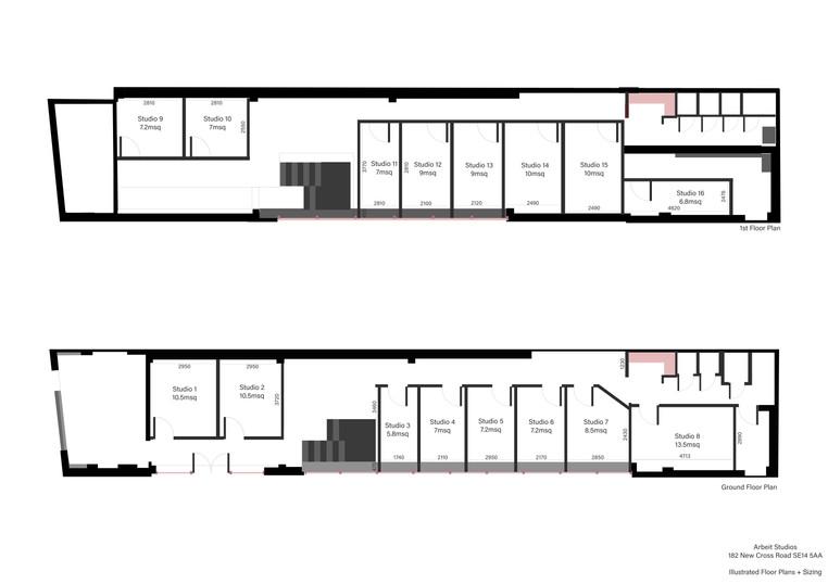 Floorplan illustrations New Cross - Dime