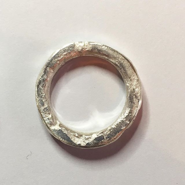Special husband ring made entirely from