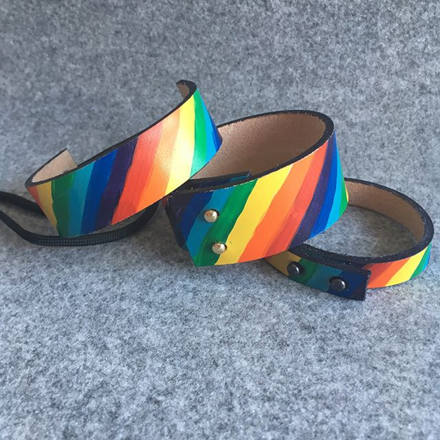 Rainbow cuffs