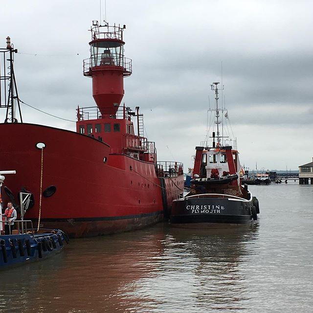 Lightship safely moored in Gravesend