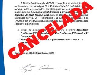 ATENÇÃO: EVENTO CANCELADO.Veteran convoca associados para eleição da diretoria biênio 2021-2022