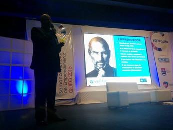 Indicado pela UNCTAD, Fernando Gameleira foi ao Equador falar sobre a bem sucedida experiência do Empretec no Brasil.