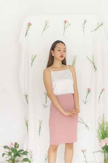 Essential Midi Skirt Pink