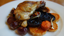 Healthy Recipe: Roasted Chicken with Grapes