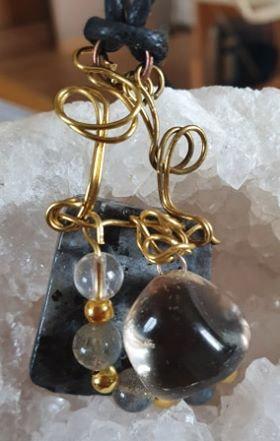 Labradorite Larvikite Cristal de roche