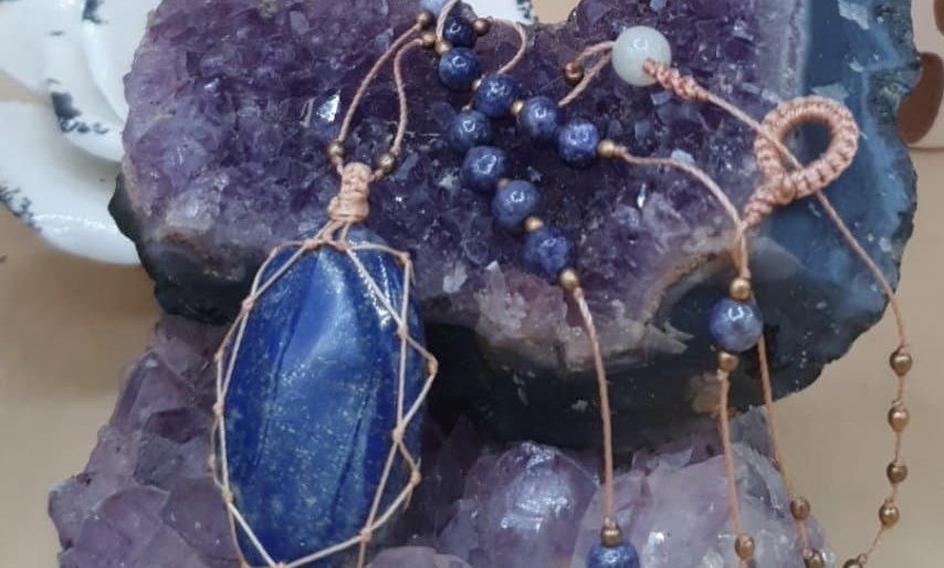 Lapis Lazuli Macramé