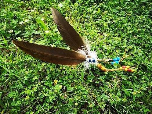 Plume de purification d'aigle préparée
