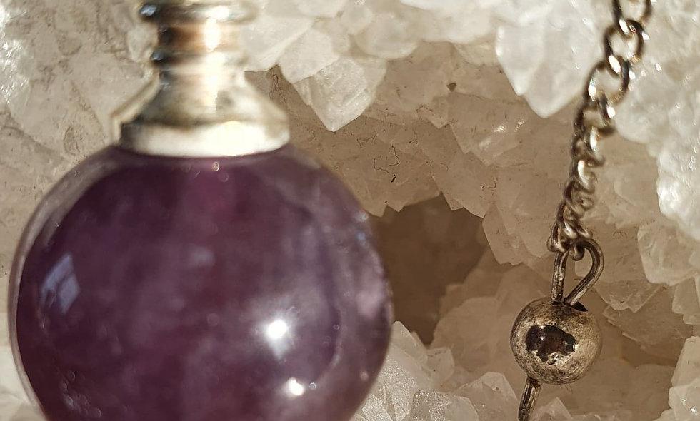 Pendule Améthyste métal sphérique
