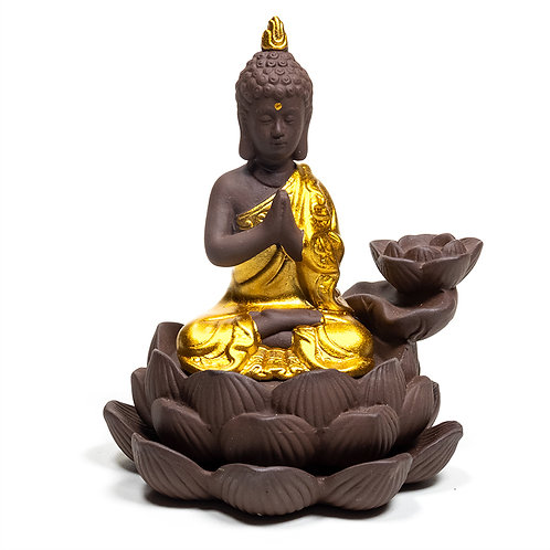 Brûleur d'encens à refoulement Bouddha