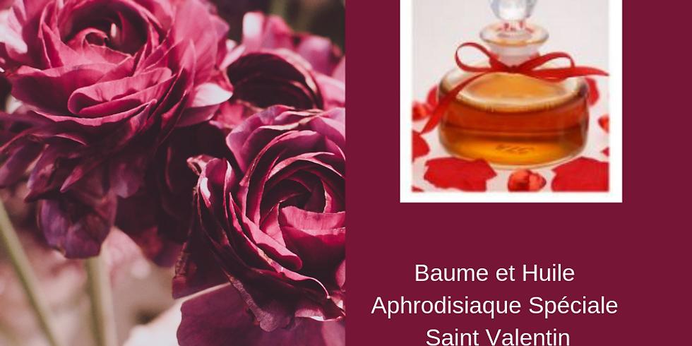 Atelier fabrication Baume et Huile aphrodisaque et comestible Saint Valentin