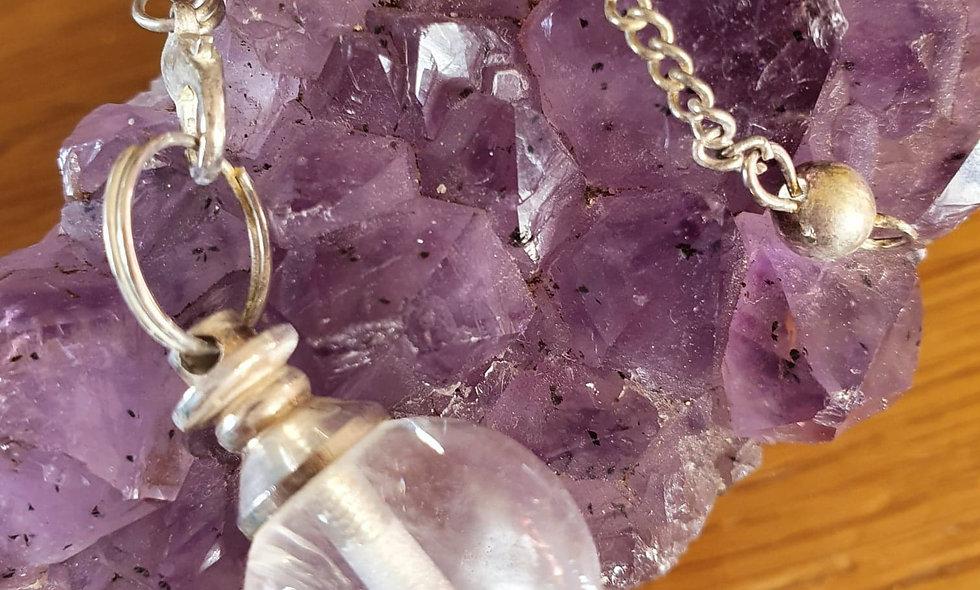 Pendule boule Cristal de roche