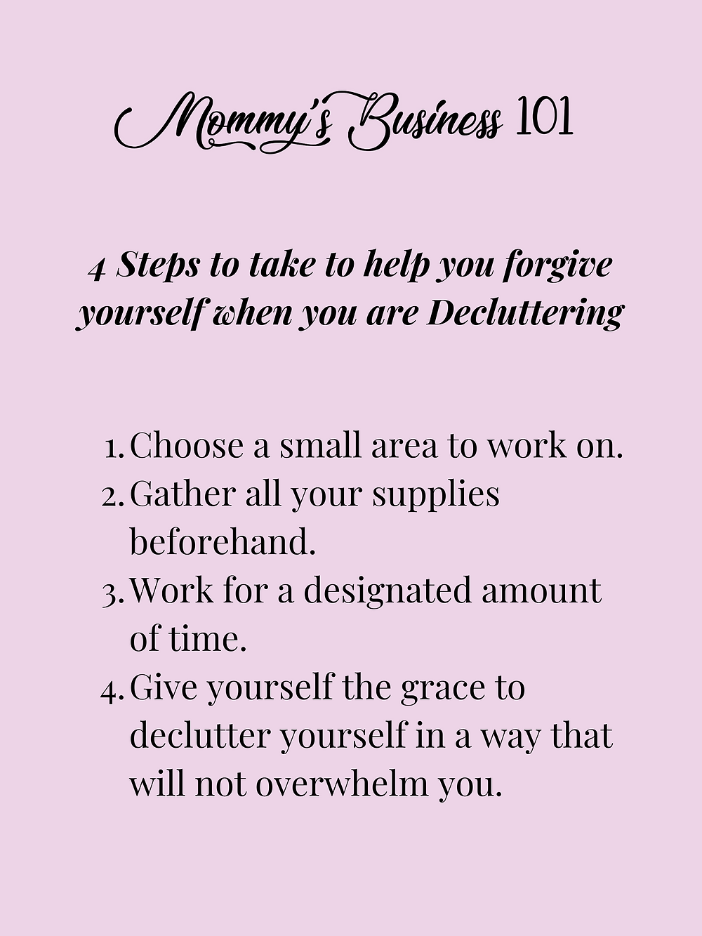 4 Steps To Help Forgive Yourself When Decluttering
