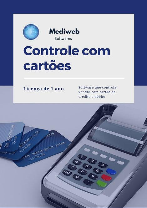 Controle de vendas com cartões - 1 ano
