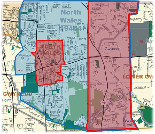 North Penn Fire Company coverage area