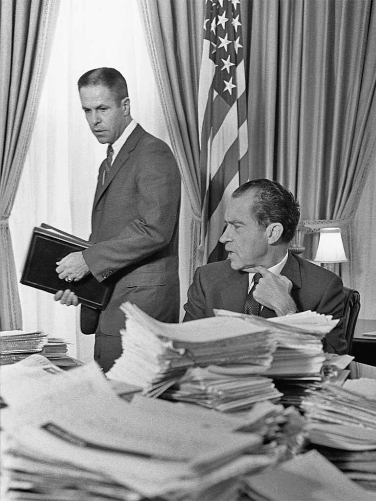 Bob Haldeman con Richard Nixon