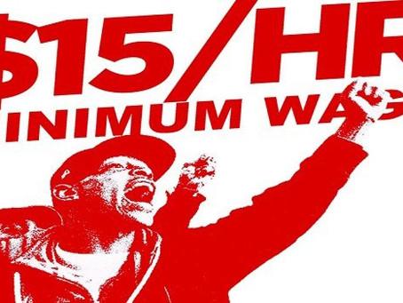 Luchando por salario mínimo de $15 x hora. Tendencia de opinión que ganó en la Florida, 2020