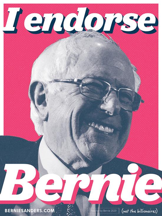 I endorse bernie sanders