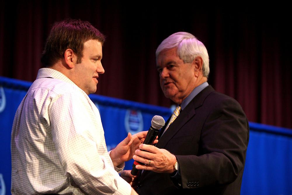 Frank Luntz con Newt Gingrich