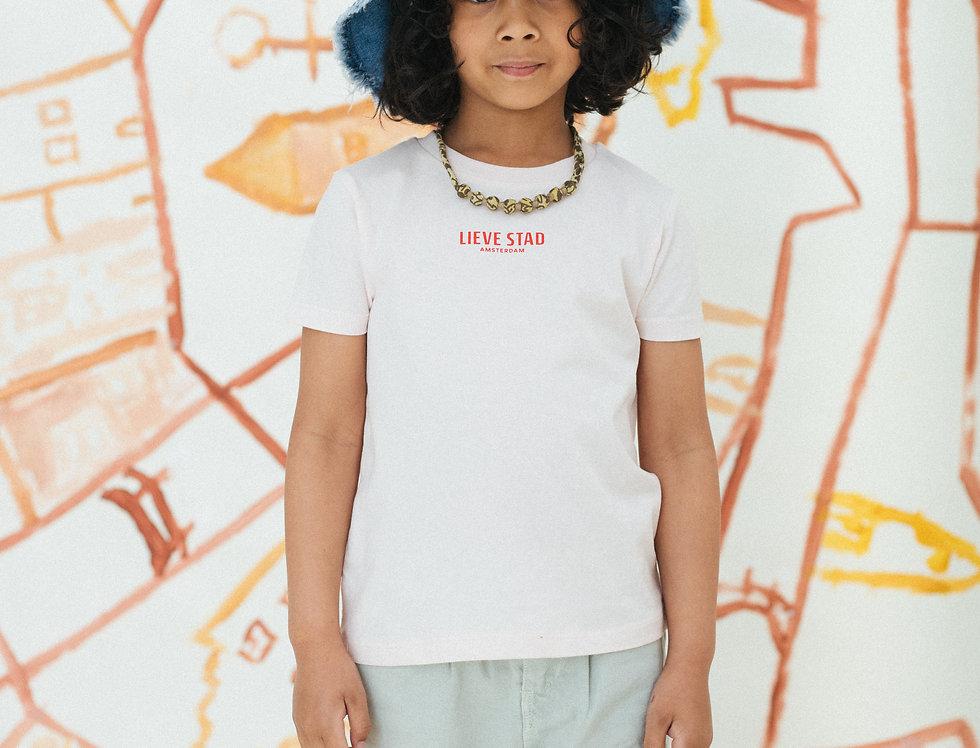 Unisex Logo Print T-shirt Kinderen Candy pink/Rood