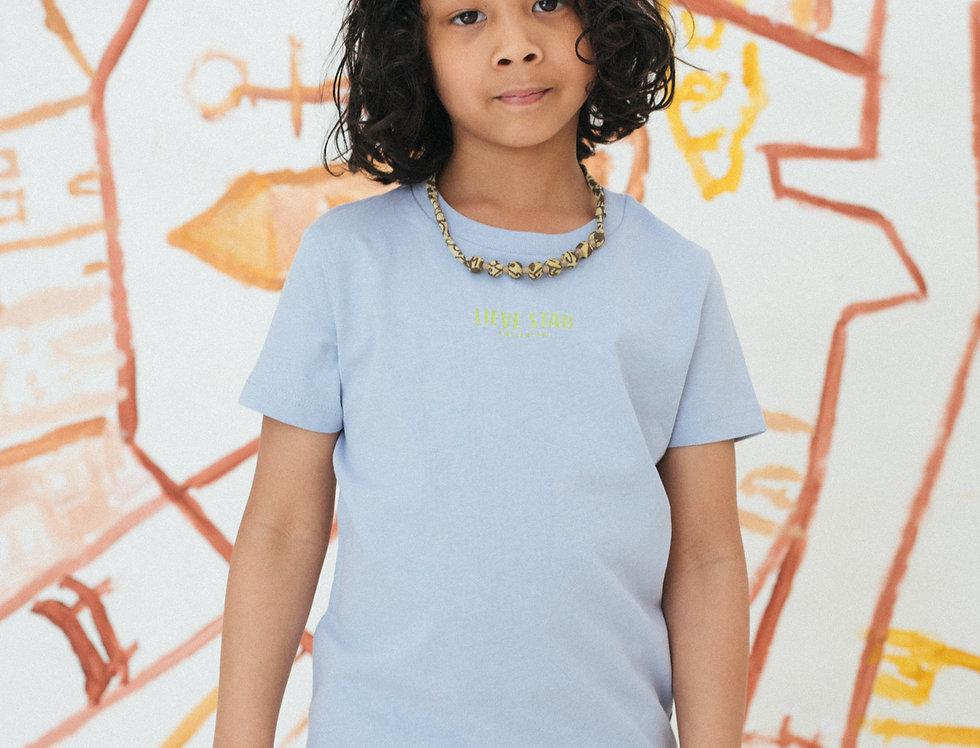 Unisex Logo Print T-shirt Kinderen Blauw/Groen