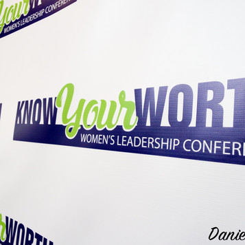 Know Your Worth branding, backdrop