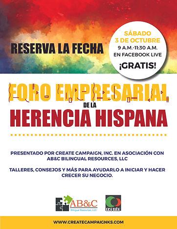 Hispanic Heritage Forum Flyer_Spanish Ve