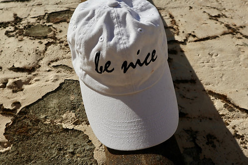 Be Nice White Baseball Cap