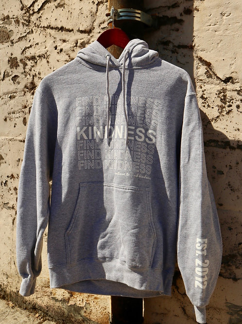 Find Kindness Grey Hoodie