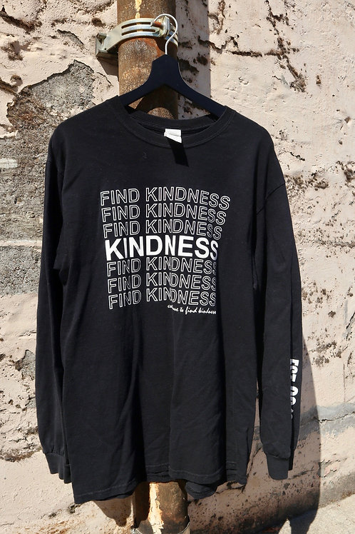 Find Kindness Black Long Sleeve