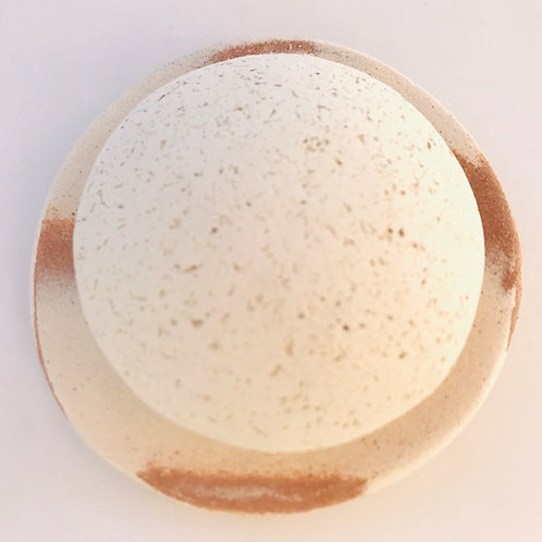 Pumice Stone for Face with Round Dish Exfoliating Clay Pebble