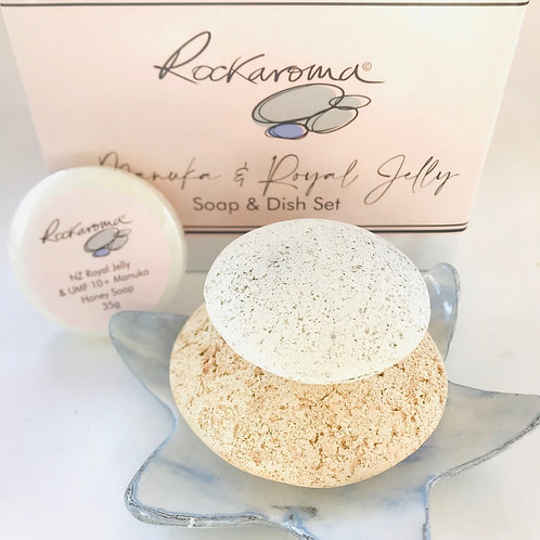 BLUE Star Dish with Full Pumice Set and FREE Manuka Soap