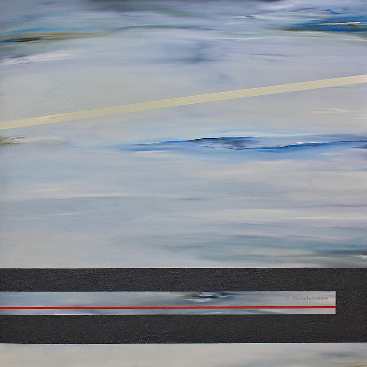 "Convergence,  48""x48  In, Oil & Sand on"