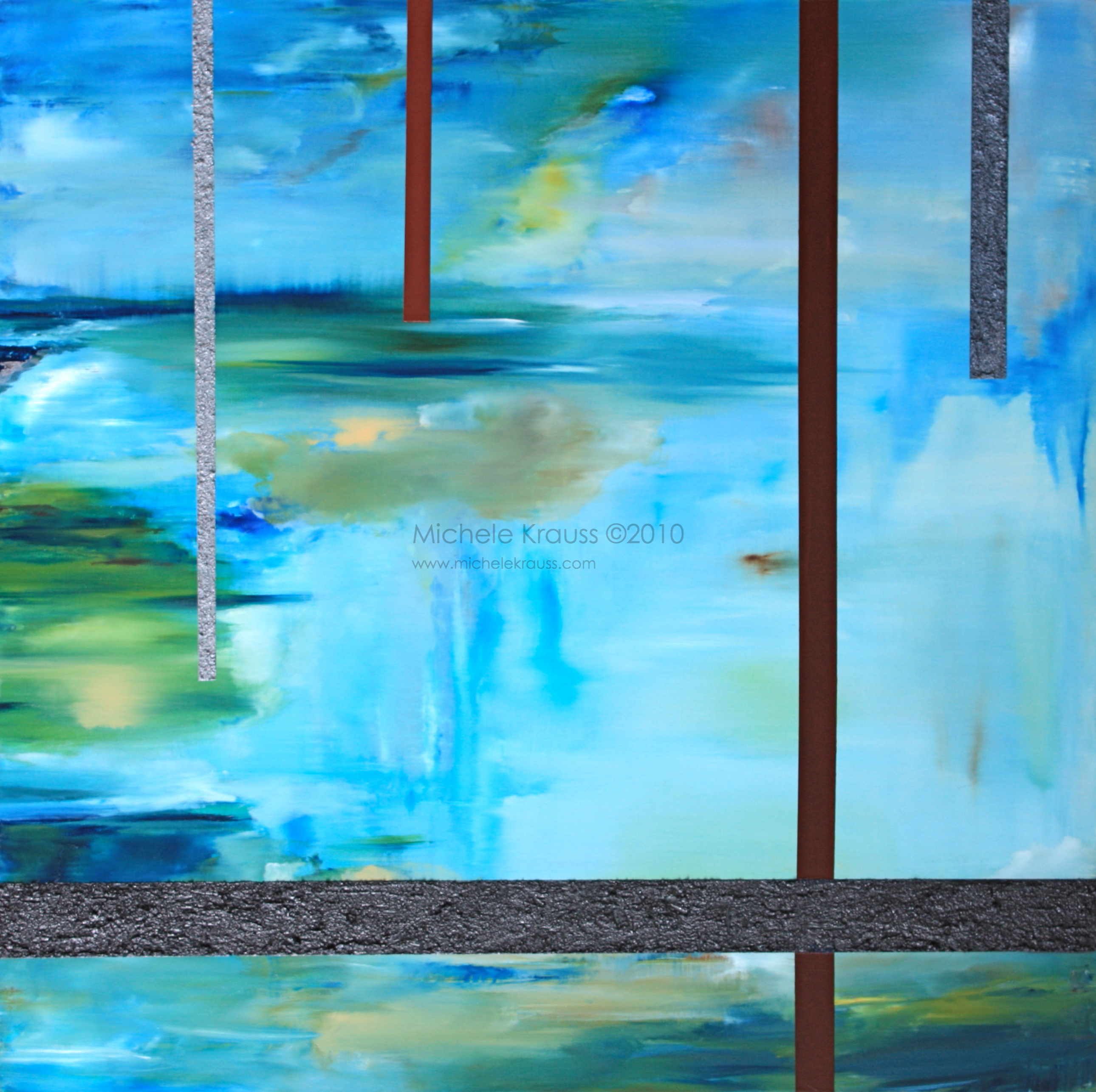 Juxtaposed Blue Reflections