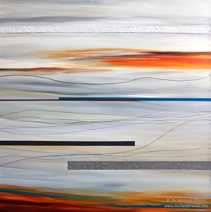 Re Coded_ 48x48 in_ Oil, Sand and Wires