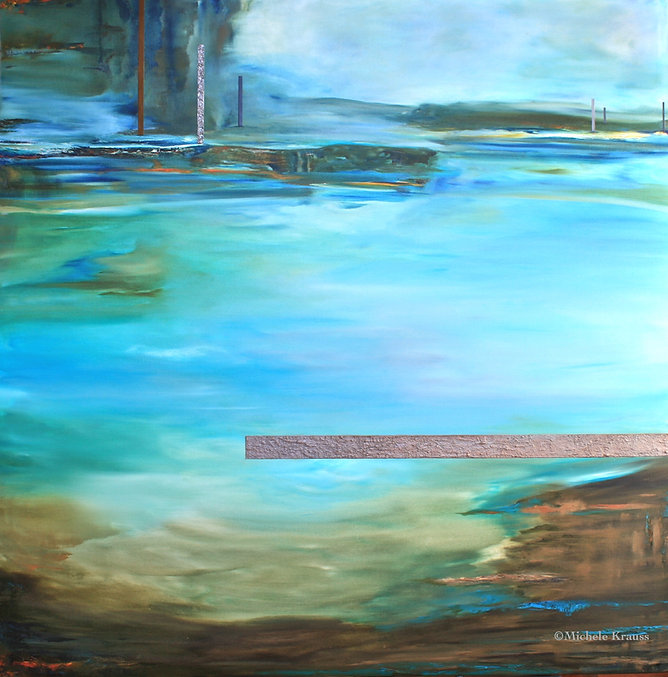 Juxtaposed Moonlight Mile  122x122 cm  O