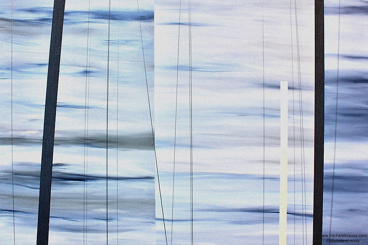 interior Design Abstract Painting Michele Krauss