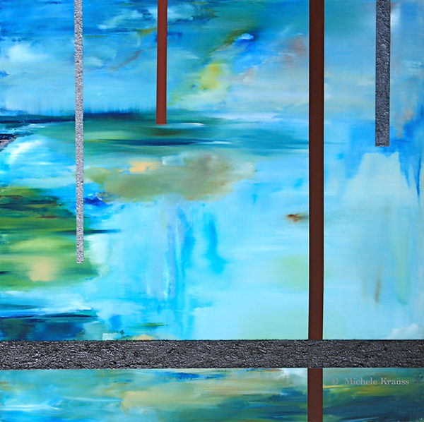 "Krauss_ Juxtaposed  Blue 30""x30""in   76x"