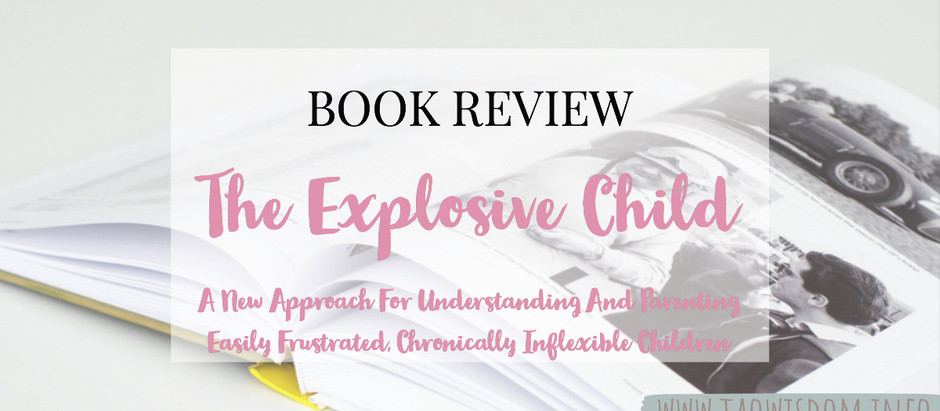 "Book Review: ""The Explosive Child""  by Ross W. Greene"