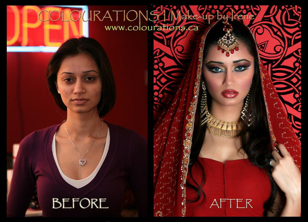 indian bride makeup toronto