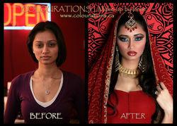 indian bride makeup toronto