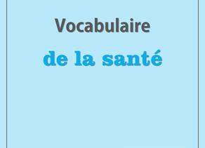 Vocabulaire de la santé