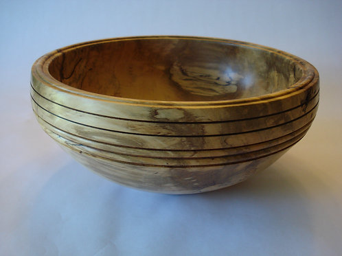 Spalted black gum signature bowl