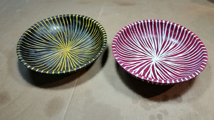 tiger bowl & candy striped bowl.jpg