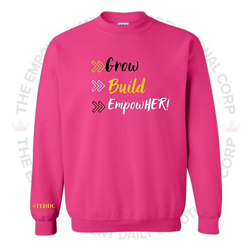 YOUTH-EmpowHERettes Mebership Sweater (Pink)