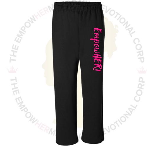 EmpowHER! Sweatpants (Black)