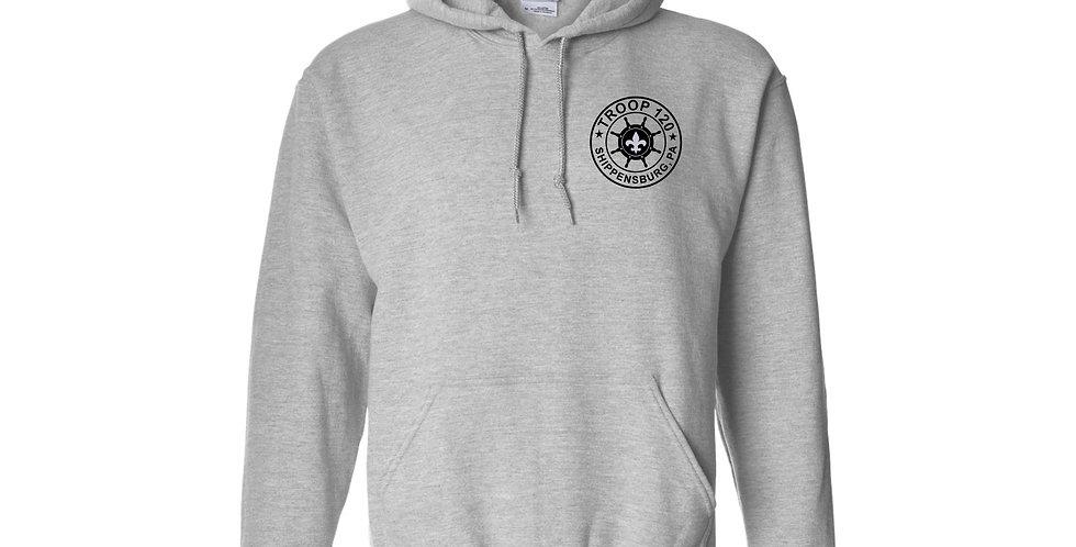 Troop 120 Sports Grey Hoodie