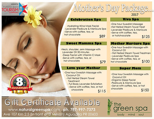 Mothers Day Spa Offers