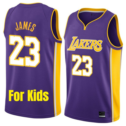 0241651e52f NEW LeBron James Lakers Jersey for Kids